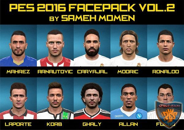 PES 2016 Facepack vol.2 by Sameh Momen