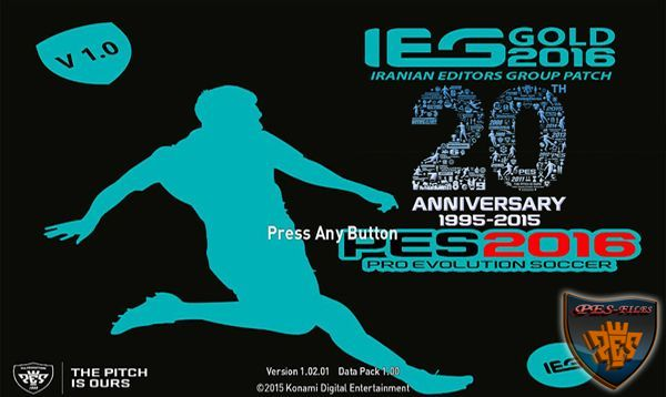 PES 2016 IEG Gold Patch v 1.0 Release 11.11.15