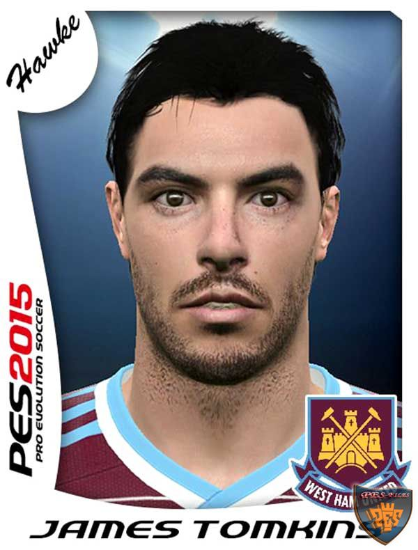 PES 2016 West Ham United Facepack 16 Faces by jovkane