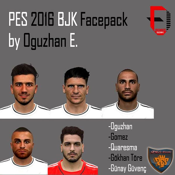 PES 2016 BJK Face Pack by Oguzhan E