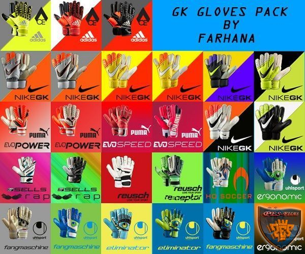 PES 2016 GK Gloves Pack 2016 by FarhanA