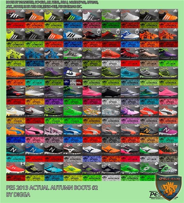 PES 2013 Actual Autumn Bootpack v2 by digga
