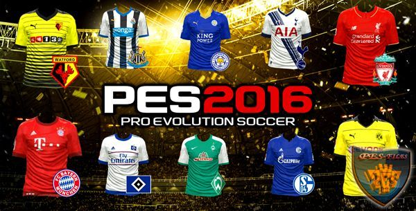 PES2016 EPL & Bundesliga 15/16 Kit Logo By Downlodcity