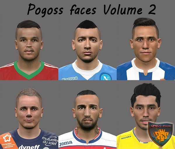 PES 2016 Faces Pack 2 by pogoss