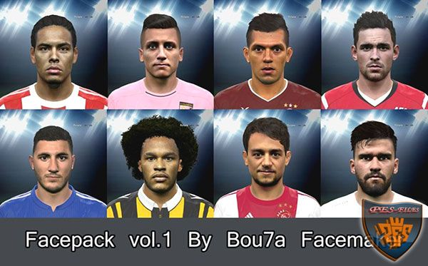 PES 2016 Facepack vol.1 By Bou7a Facemaker