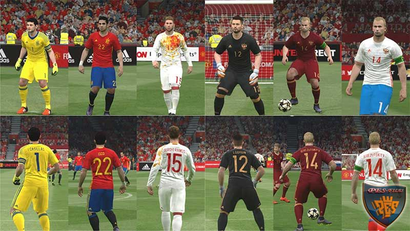 PES 2016 Spain and Russia Euro 2016 Kitpack