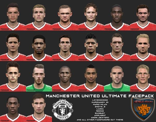 PES 2016 Manchester United Ultimate Facepack by love01010100