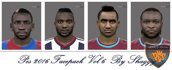 Pes 2016 EPL Facepack Vol 5 by Shaggy