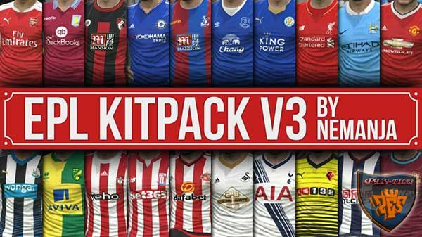 PES 2016 EPL 2015/2016 Kitpack V3 For DLC 2.0