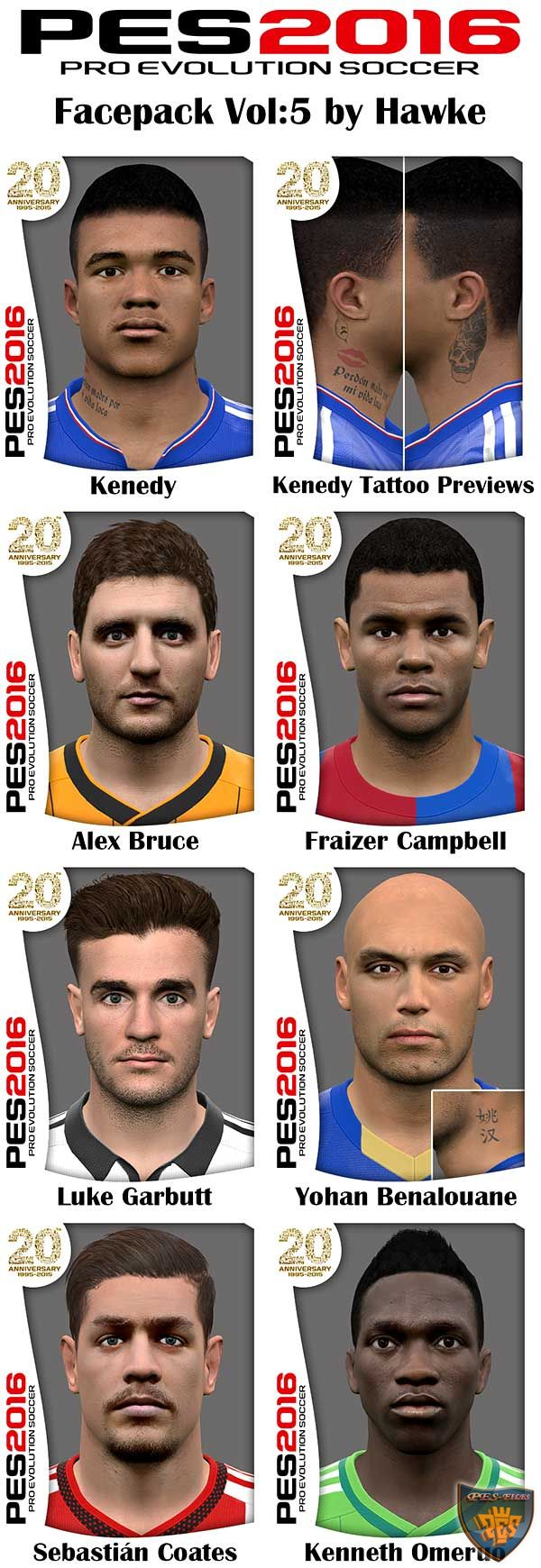 Pes 2016 Facepack Vol5 by Hawke