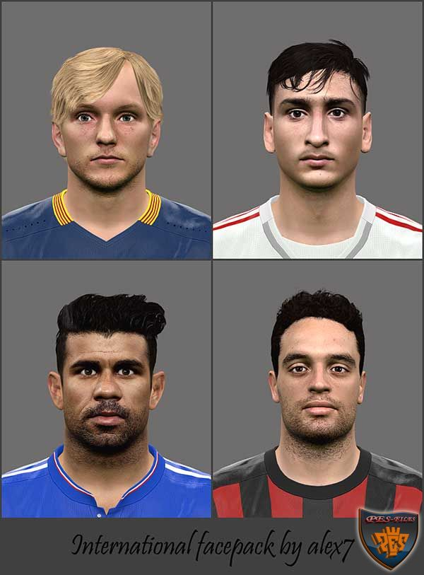 PES 2016 International facepack by alex7