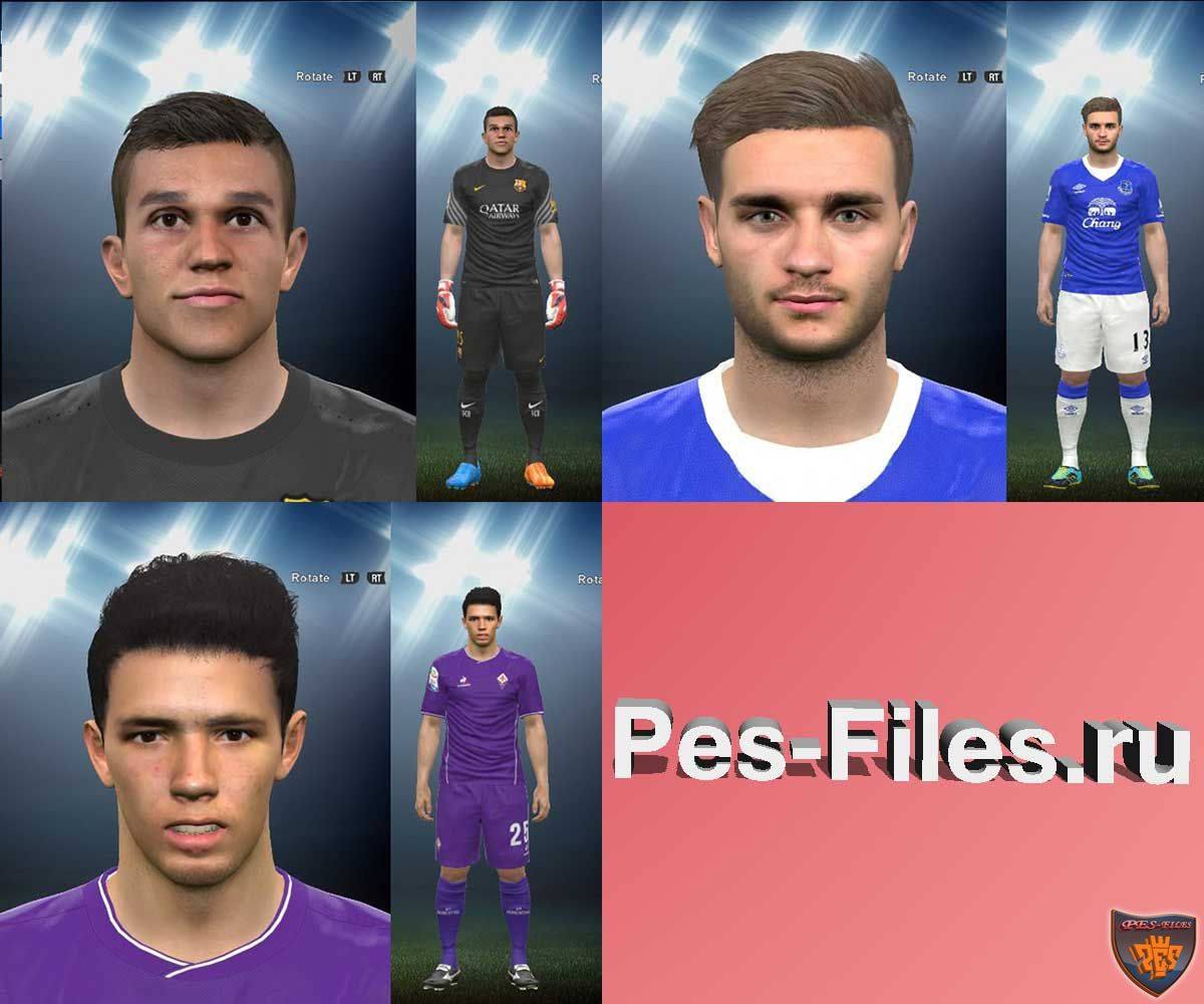 Pes 2016 Garbutt, Masip and Bakic Face