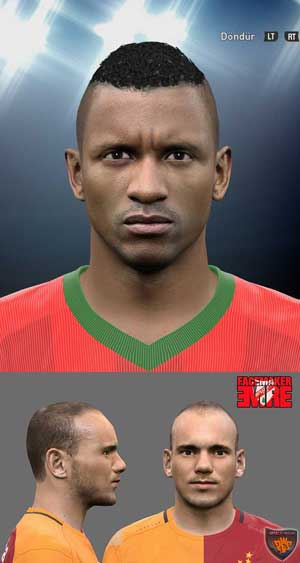Luis Nani and Sneijder Face