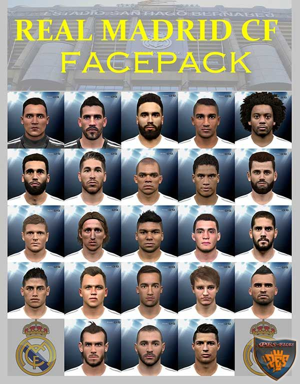 PES 2016 Real Madrid CF Facepack by LuzDa
