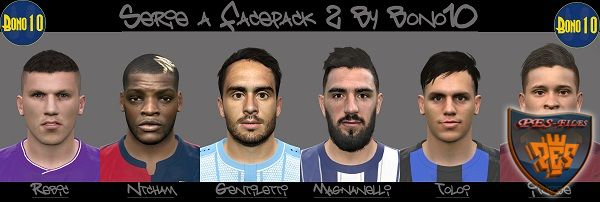 Serie A Facepack N°2 PES 2016 by Bono10