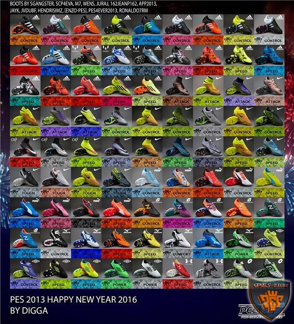 PES 2013 Happy New Year 2016 Bootpack by digga