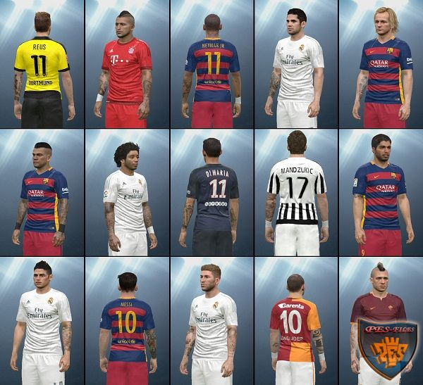 PES 2016 Tattoo pack v1.0 by Tunizizou