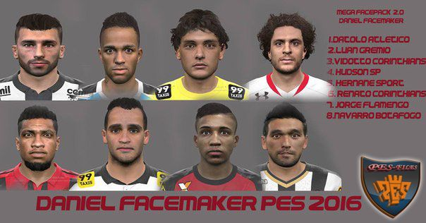 PES 2016 Mega FacePack by Daniel