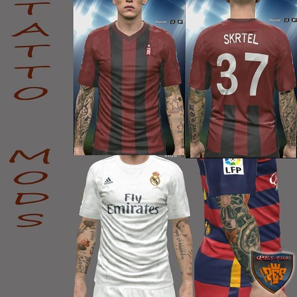 PES 2016 Tattoo Pack by Alief