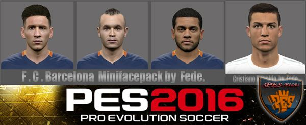 PES 2016 Face Pack by Fede