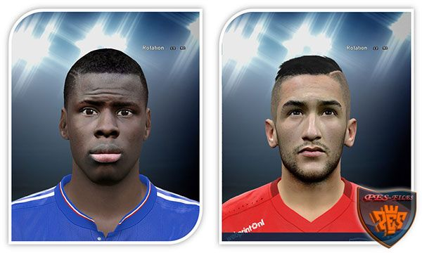 Pes 2016 Kurt Zouma and Hakim Ziyech face
