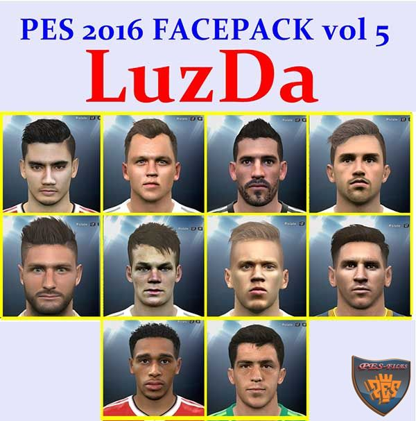PES 2016 FacePack Vol 5 by LuzDa