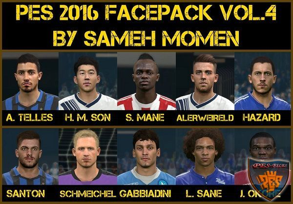 PES 2016 Facepack vol.4 by Sameh Momen