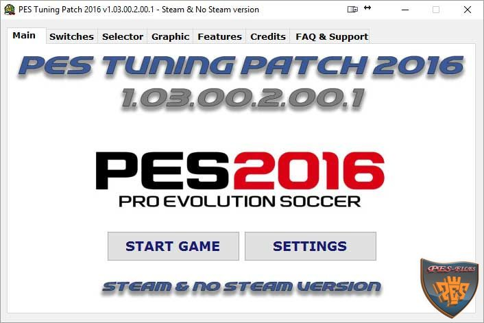 Pes Tuning Patch 2016 v1.03.00.2.00.1