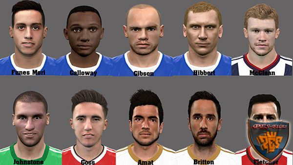 Pes 2016 EPL Facepack by Mauro