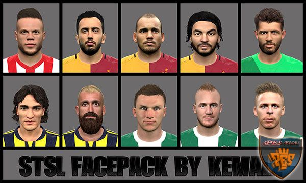 PES 2016 STSL Face Pack by Kemal2