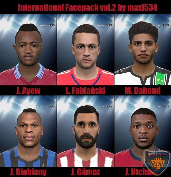 PES 2016 International Facepack vol.2 by maxi534