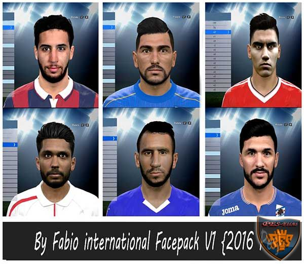 Pes 2016 international Facepack V1 By Fabio