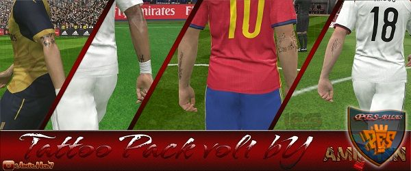 PES 2016 Tattoo pack v1.0 by Amir.Hsn7