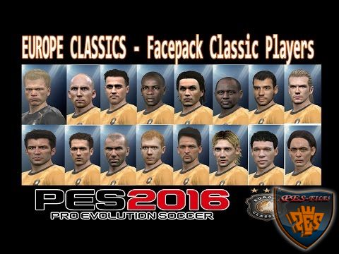 Pes 2016 European Classic Team FacePack by dosho2