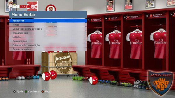 PES 2016 Arsenal FC Locker Room by MES Modder