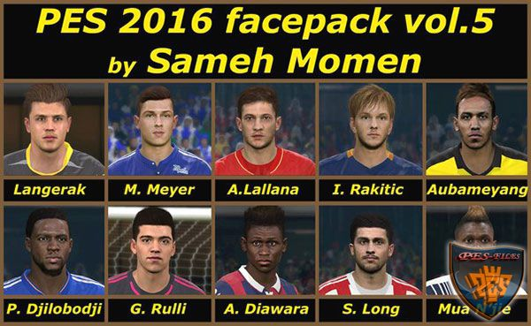 PES 2016 facepack vol.5 by Sameh Momen