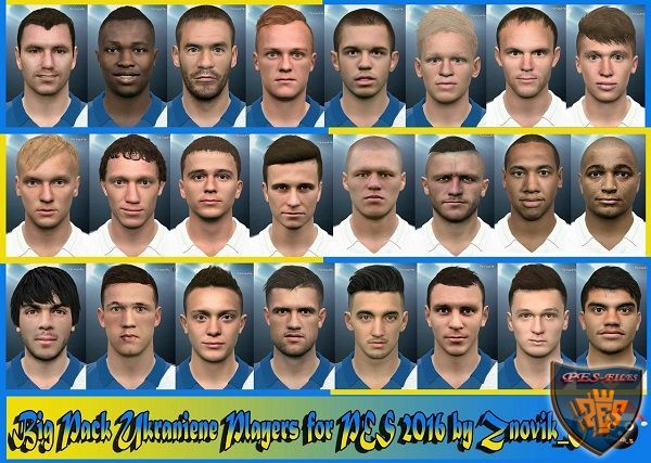 Big Pack Ukranian Players for PES 2016 by Znovik_S
