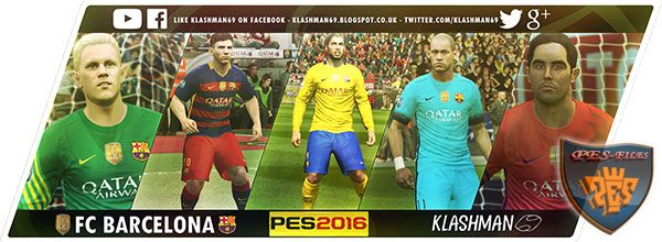 PES 2016 Barcelona Club World Champions Kit Pack
