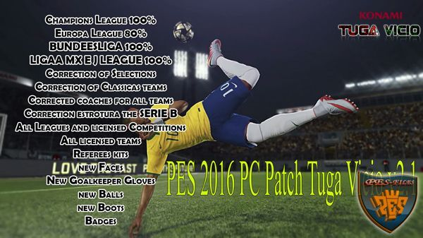PES 2016 PC Patch Tuga Vicio v2.1 (20.01.2016)