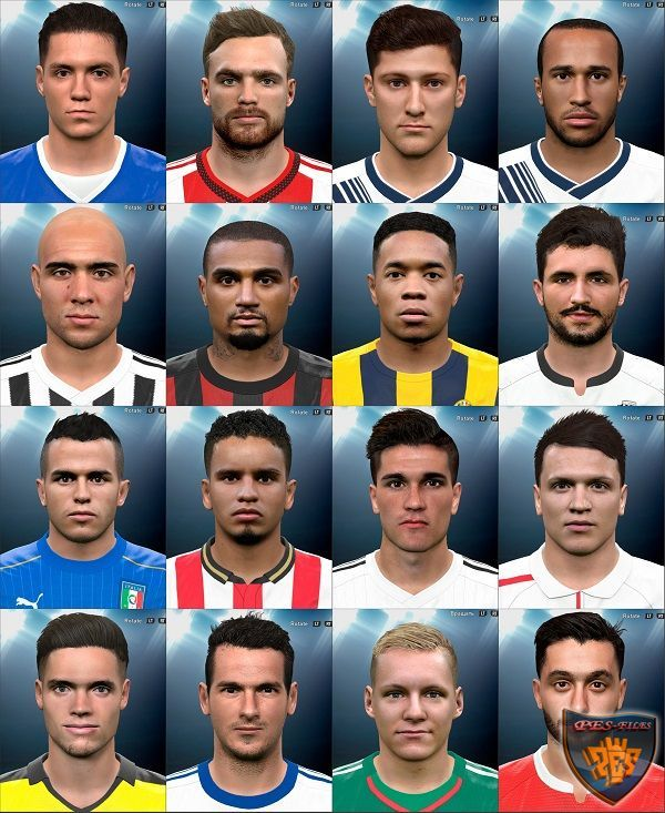 The Last Facepack For PES 2016 by MarioMilan