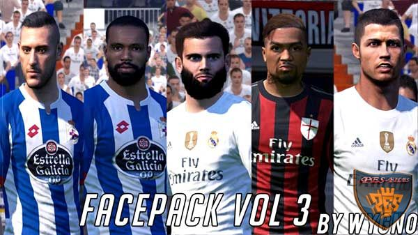 PES 2016 Facepack Vol. 3 by Wygno Facemaker