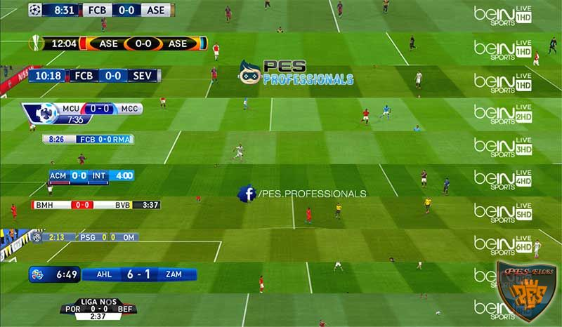Pes 2016 Leagues Scoreboards With Real BeIN SPORT