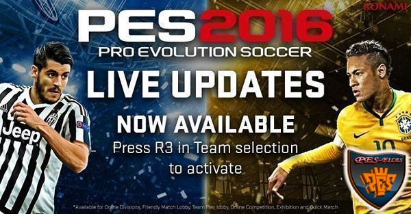 Live Update For PES 2016 от 07.01.2016