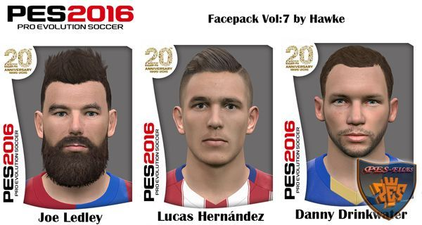 PES 2016 Facepack Vol:7 by Hawke