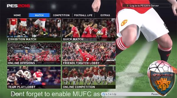 PES 2016 Manchester United Menu HD