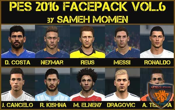 PES 2016 facepack vol.6 by Sameh Momen