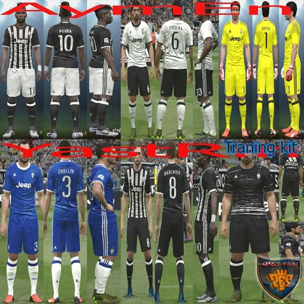 PES 2016 Juventus Full KitPack 2017 +Training Kit