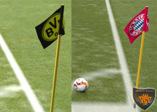 PES 2016 Corner Flags Pack by TheMaster