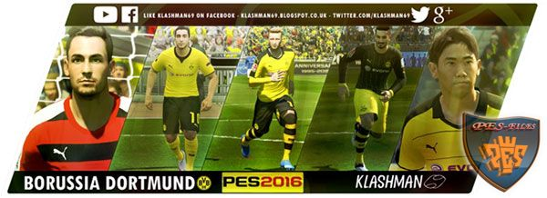PES 2016 Borussia Dortmund Kit Pack by klashman69