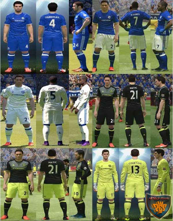 PES 2016 Chelsea Kit Pack 2016-17 by YastRin